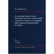 Il ruolo degli schemi iconici (parte-tutto, percorso, punto iniziale, contenitore, supporto e contiguità) nella semantica preposizionale in italiano