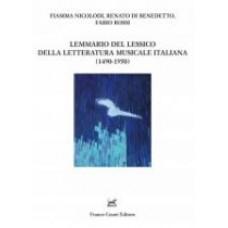 Lemmario del lessico della letteratura musicale italiana