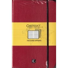 Notes CARTESIO 9x14  bordowy
