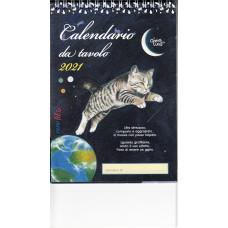 Calendario (Kalendarz biurkowy) 2021 Il gatto e la luna