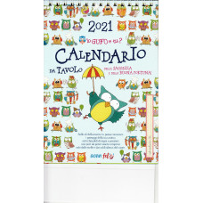Calendario (Kalendarz biurkowy) 2021 Io gufo e tu?
