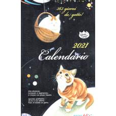 Calendario (Kalendarz) 2021 Il gatto e la luna per 365 giorni