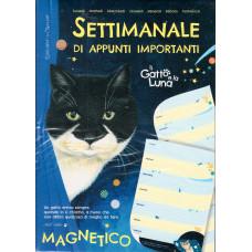 Calendario Settimanale di appunti importanti Il gatto e la luna (magnetico)