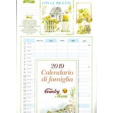 Calendario di Famiglia (Kalendarz) 2019 Country moon